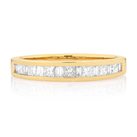 Wedding Band with 1/2 Carat TW of Diamonds in 18kt Yellow Gold