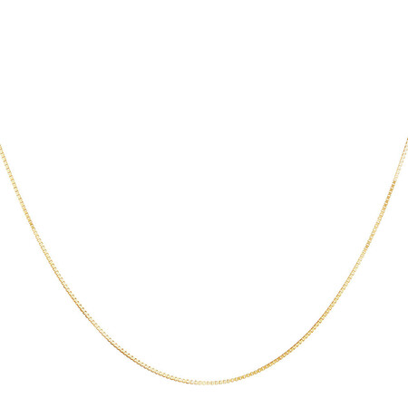 """50cm (20"""") Box Chain in 10kt Yellow Gold"""
