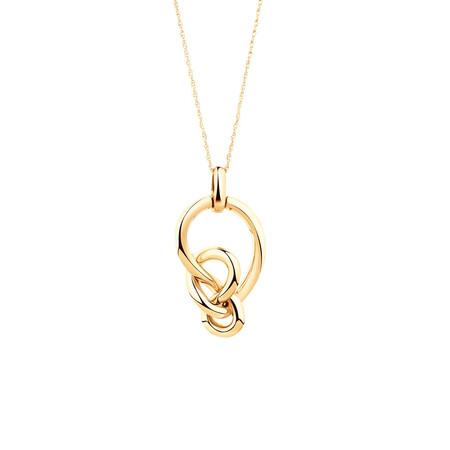 Medium Knots Pendant in 10kt Yellow Gold