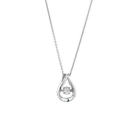 Everlight Pendant with 1/15 Carat TW of Diamonds in Sterling Silver