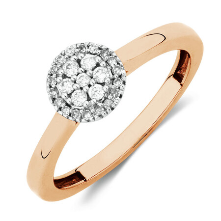 Promise Ring with 1/6 Carat TW of Diamonds in 10kt Rose Gold