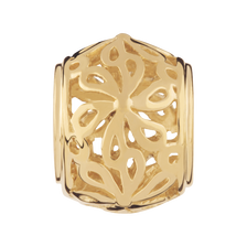 10kt Yellow Gold Filigree Flower Charm