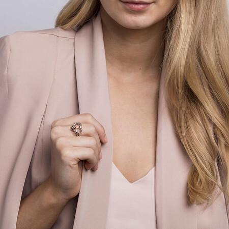 Infinitas Ring in 10kt Rose Gold & Sterling Silver