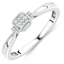 Promise Ring with 1/20 Carat TW of Diamonds in Sterling Silver