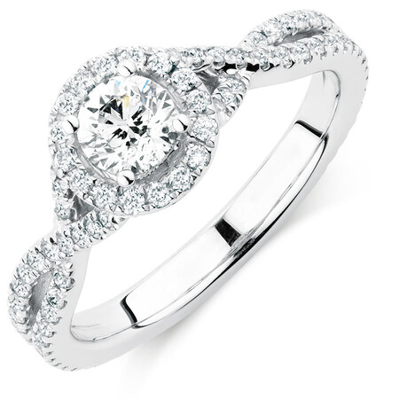 Sir Michael Hill Designer GrandAdagio Engagement Ring with 1 Carat TW of Diamonds in 14kt White Gold