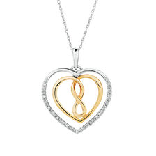 Infinitas Pendant with 1/20 Carat TW of Diamonds in 10kt Yellow Gold & Sterling Silver