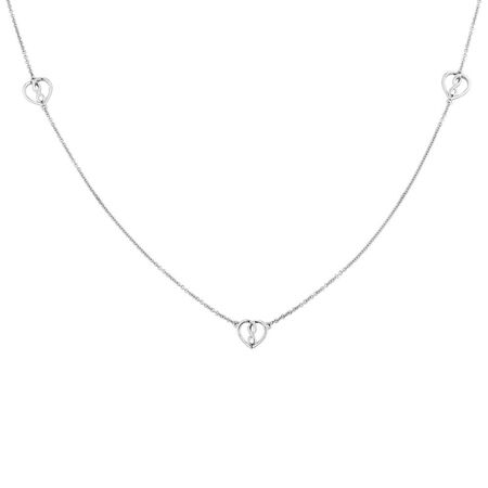 Infinitas Heart Necklace in Sterling Silver