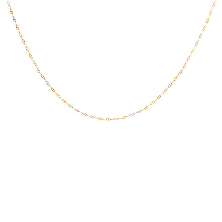 """45cm (18"""") Hollow Anchor Chain in 10kt Yellow Gold"""