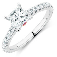 Sir Michael Hill Designer GrandAria Engagement Ring with 1 3/4 Carat TW of Diamonds in 14kt White Gold