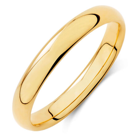 Wedding Band in 18kt Yellow Gold