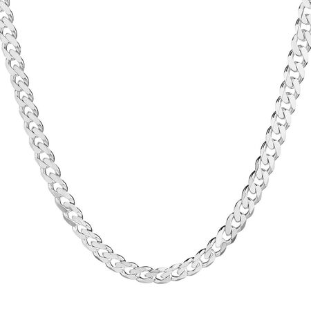 "55cm (22"") Curb Chain in 925 Sterling Silver"