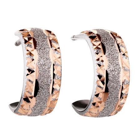 Stud Earrings in 10kt White & Rose Gold
