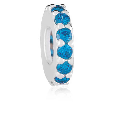 Blue Cubic Zirconia Spacer