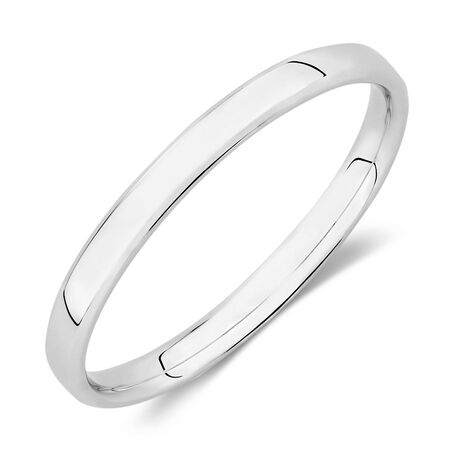 Wedding Band in 10kt White Gold