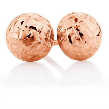 7mm Stud Earrings in 10kt Rose Gold