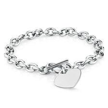 Heart Belcher Rolo in Sterling Silver