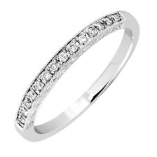 Wedding Band with 1/10 Carat TW of Diamonds in 14kt White Gold