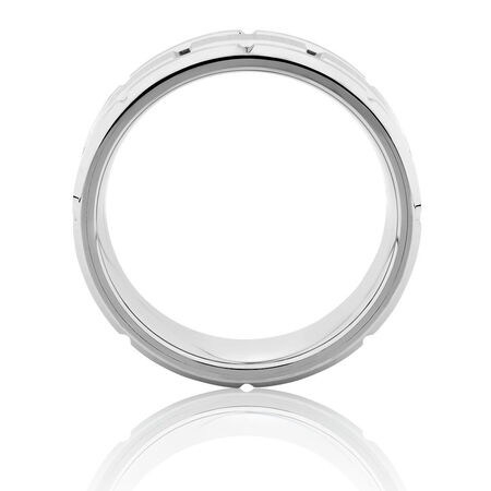 Men's Ring in Gray TungstenMen's Ring in Gray Tungsten