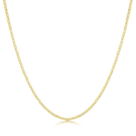 """50cm (20"""") Anchor Chain in 10kt Yellow Gold"""