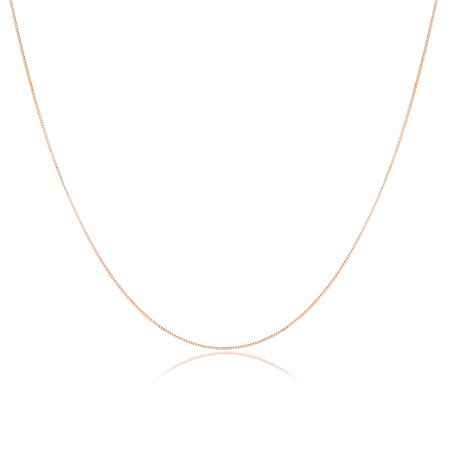 """60cm (24"""") Box Chain in 10kt Rose Gold"""