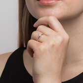 Whitefire Solitaire Engagement Ring with a 1/3 Carat TW Diamond in 18kt White & 22kt Yellow Gold