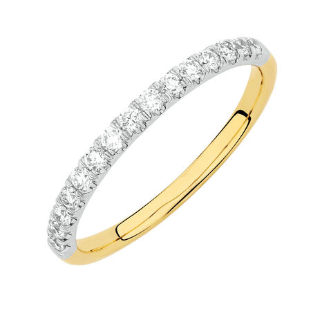 Online Exclusive - Wedding Band with 0.30 Carat TW of Diamonds in 14kt Yellow and White Gold