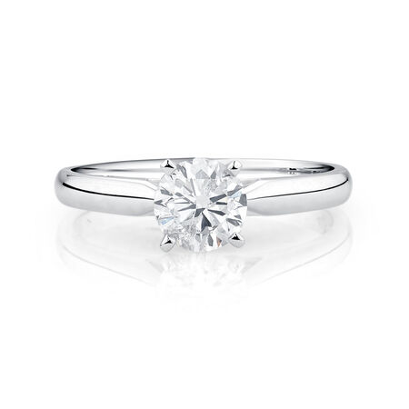 Evermore Solitaire Engagement Ring with a 0.70 Carat Diamond in 14kt White Gold