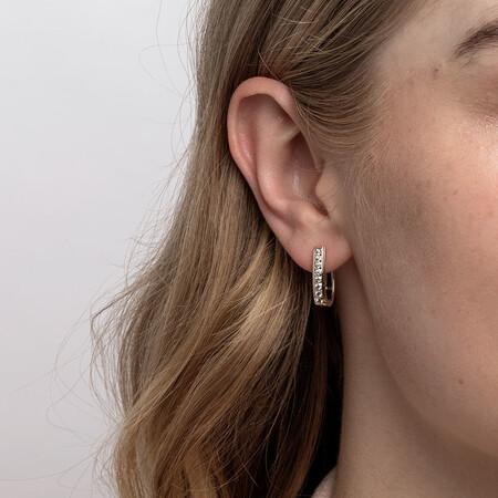 Huggie Earrings with 0.34 Karat TW of Diamonds in 10kt Yellow Gold