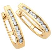 Huggie Earrings 1/2 Carat TW of Diamonds in 10kt Yellow Gold