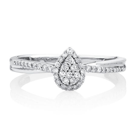 Promise Ring with 1/6 Carat TW of Diamonds in 10kt White Gold