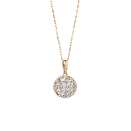 Pendant with 1/3 Carat TW of Diamonds in 10kt Yellow & White Gold