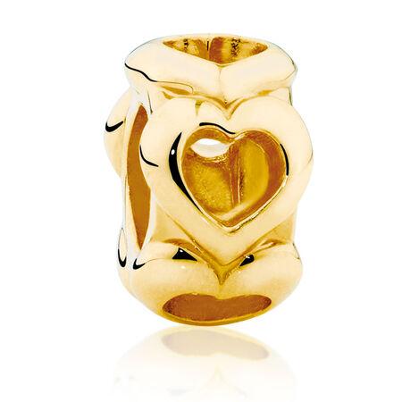 10kt Yellow Gold Open Heart Charm