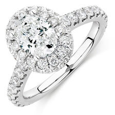 Michael Hill Designer GrandAllegro Engagement Ring with 2 Carat TW of Diamonds in 14kt White Gold