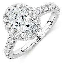 Michael Hill Designer GrandAllegro Engagement Ring with 2 Carat TW of Diamonds in 14kt White Gold