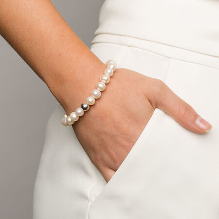 Bracelet with Cultured Freshwater Pearl & Sterling Silver