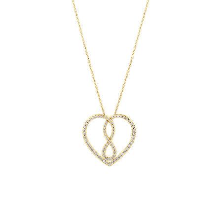 Medium Infinitas Pendant with 1/3 Carat TW of Diamonds in 10kt Yellow Gold