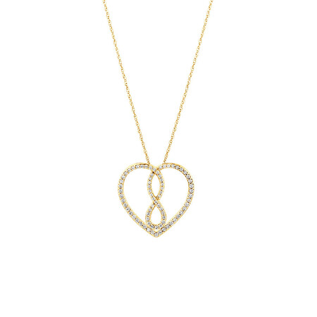 Medium Infinitas Pendant with 1/3 Carat TW of Diamonds in 10kt Yellow Gold