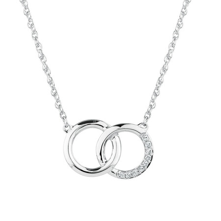 Pendant with 1/20 Carat TW of Diamonds in Sterling Silver