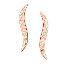 Patterned Ear Climbers in 10kt Rose Gold