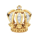 Diamond Set & 10kt Yellow Gold Crown Charm