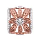 Diamond Set, 10kt Rose Gold & Sterling Silver Charm