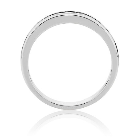 Men's Wedding Band  with 1/2 Carat TW of Diamonds in 14kt White Gold