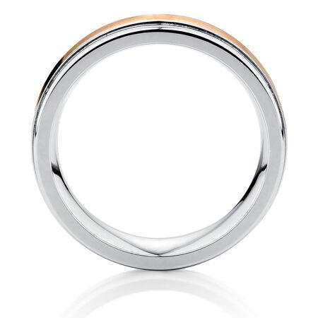 Men's Ring in Cobalt & 10kt Yellow Gold