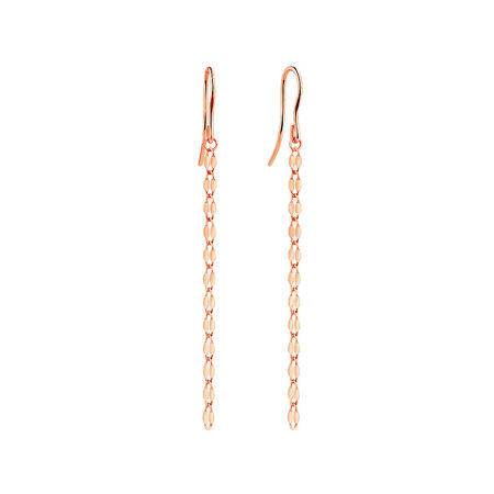 Strand Drop Earrings in 10kt Italian Rose Gold