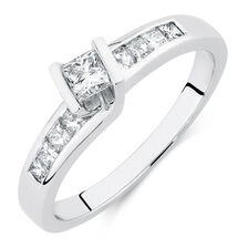 Online Exclusive - Engagement Ring with 0.46 Carat TW of Diamonds in 14kt White Gold