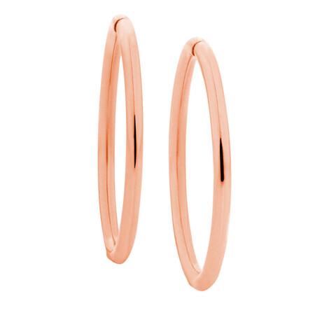 14mm Sleeper Earrings in 10kt Rose Gold