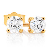 Classic Stud Earrings with 1/3 Carat TW of Diamonds in 10kt Yellow Gold
