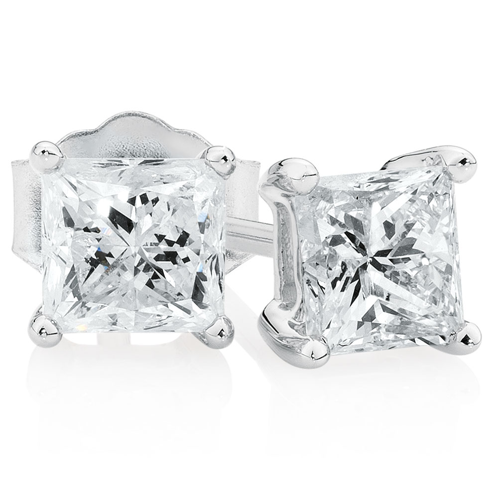 diamond of tw dew amazon earrings white carat ct stud in moissanite luxury round