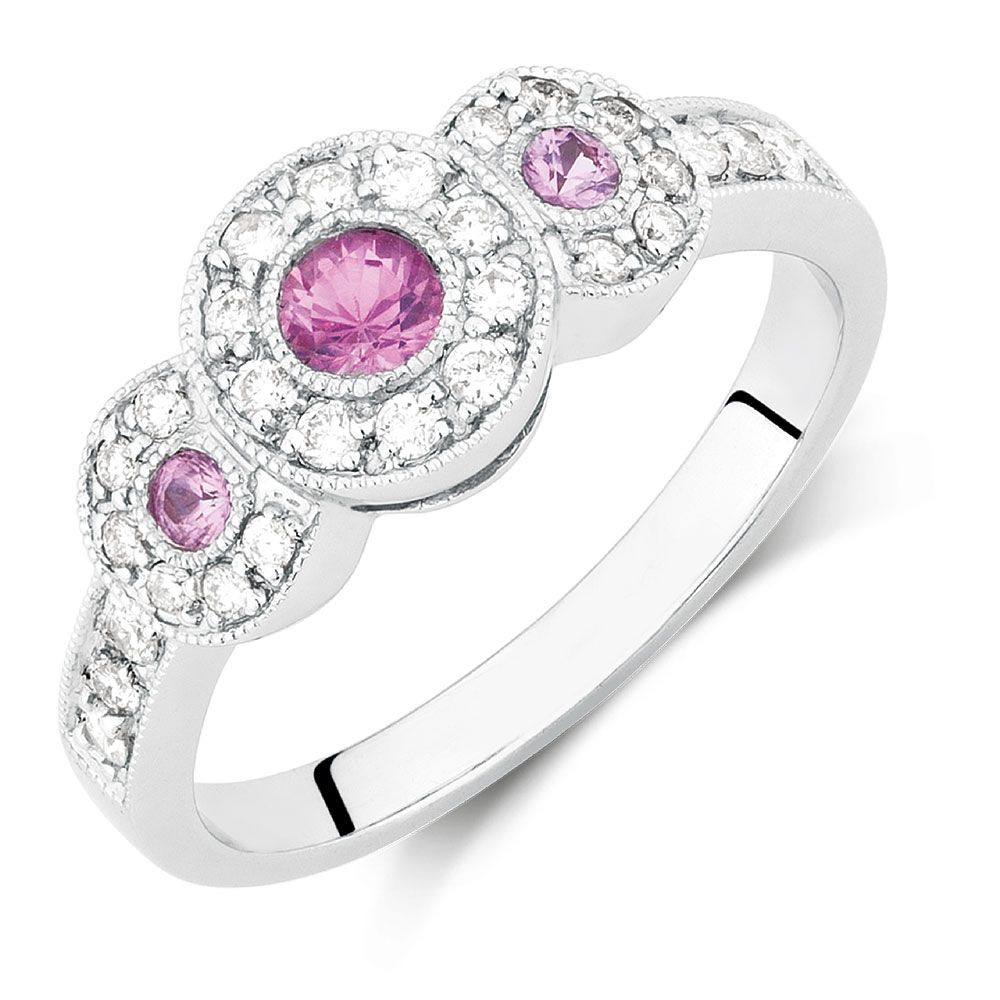 with carat stone tw diamonds rings ring sapphire in gold pink of white